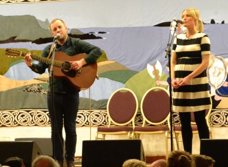 Adam Guest and Louise Thomason's set was very well received. Photo: Shetnews