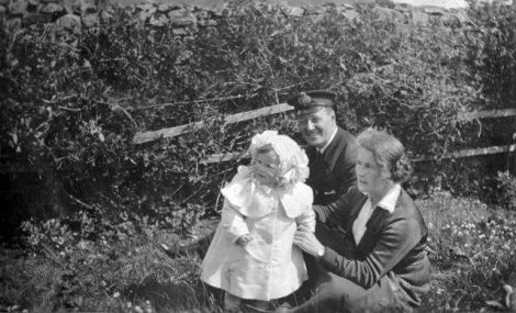 James and Hanke Adie with their daughter Esmé; the Adie family founded the bakery in 1915 - Photo: Courtesy of Shetland Museum and Archives