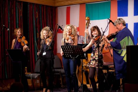 Local outfit Birls Aloud at a recent fiddle and accordion festival, that will now have to step up its own fundraising efforts after charitable trust cutbacks. Photo Dale Smith