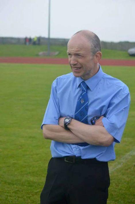 Shetland football manager Niall Bristow.