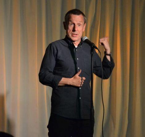 Hardy's set delivered a potent blend of politics and humour. Photo: Shetnews