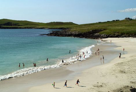 Not a photo from this year! Meal beach on a warm summer's day in 2008 - Photo: ShetNews