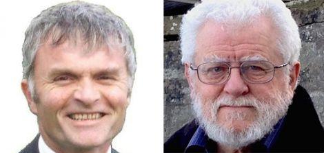 Mike Mackenzie MSP (left) and Danus Skene