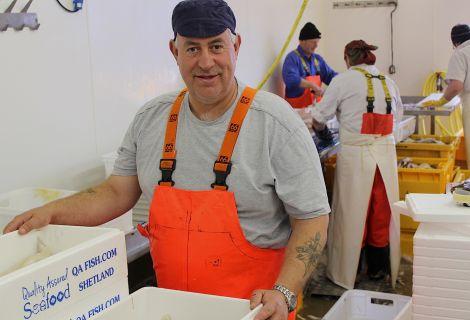 Robert Williamson of QA Fish - Photo: Hans J Marter/ShetNews