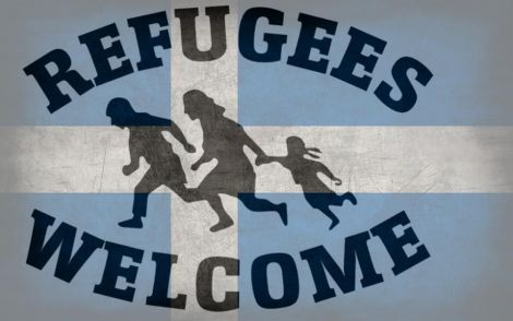 The image at the top of the Shetland Supports Refugees Facebook page.