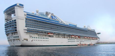 The Caribbean Princess was the largest cruise liner to visit Lerwick harbour this season - Photo: Ian Leask