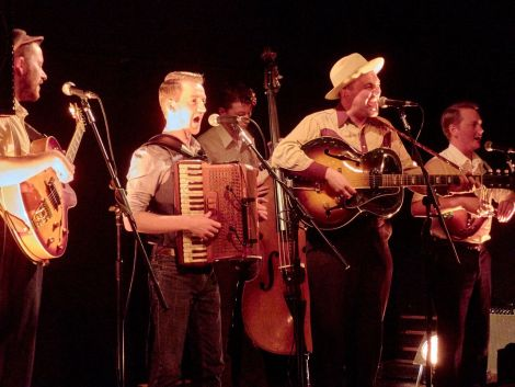 Rob Heron & the Teapad Orchestra, pictured on stage at Carnegie Hall, were on stirring form this weekend. Photo: Chris Brown