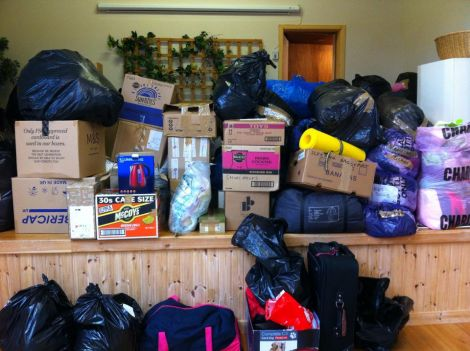 Donations of supplies to help refugees have been flooding in to drop-off points at Bixter Hall and Burra Hall over the weekend. Shetland Solidarity with Refugees has now published details of several other drop-off points throughout the islands.