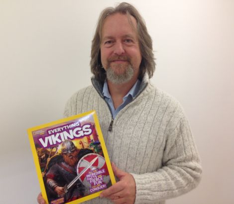 Dr Andrew Jennings has lent his expertise to a Viking-themed edition of National Geographic Kids.