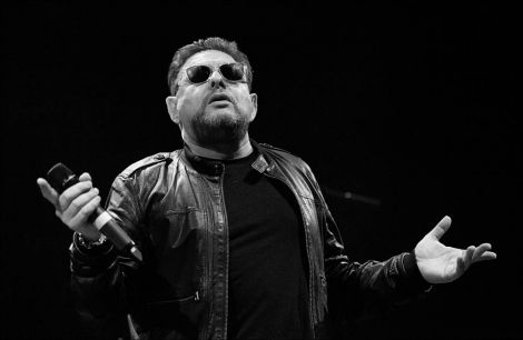 A swaggering Shaun Ryder on stage at Mareel on Saturday night. Photo: Dale Smith