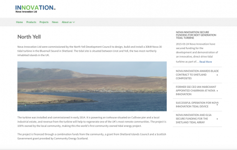 Nova Innovation's website says the Nova 30 is powering the ice factory.
