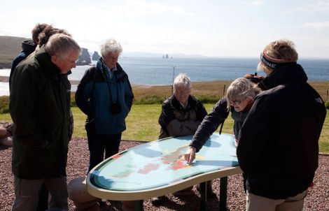 Interpretive picnic table at Braewick, one of 17 such facilities across Shetland - Photos: Billy Fox for Shetland Amenity Trust
