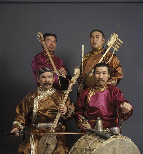 Mongolian throat singing supergroup Huun Huur Tu.