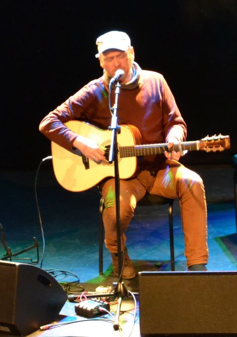 Occupying centre stage was Fifer James Yorkston, who interspersed beautiful melancholy songs with hilarious storytelling. Photo: Shetnews