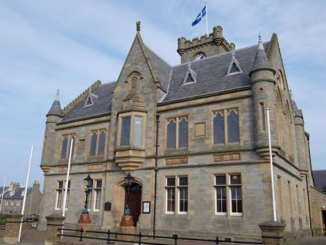 Lerwick Town Hall is going purple this weekend.