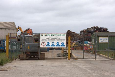 The 60 North Recycling base at Greenhead