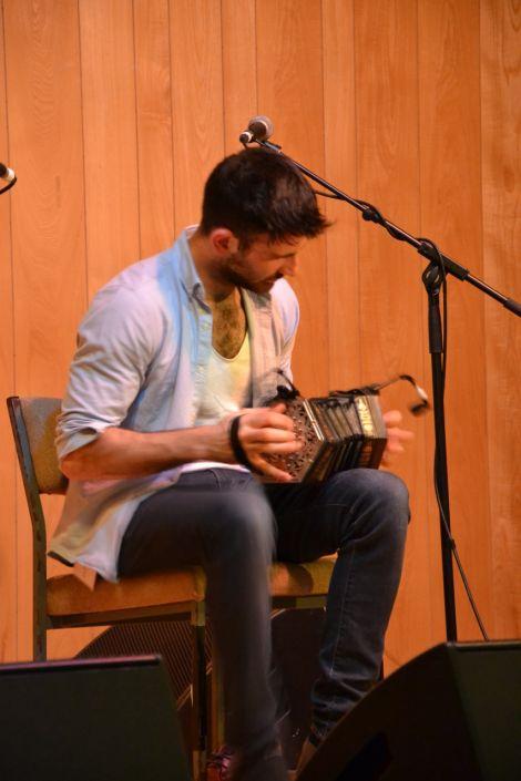 Talisk's Glaswegian-Iranian virtuoso concertina player Mohsen Amini. Photo: Shetnews