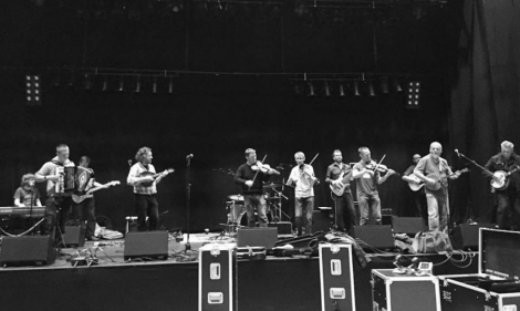 Festival supergroup Dwaam in rehearsal before the big gig. Photo: Lois Nicol