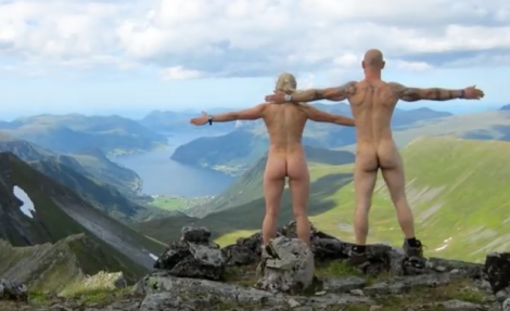 The popular sport of 'naking' - taking your clothes off in remote parts of the world - has contributed to the huge increase in Scandinavian nudism.