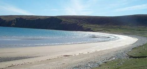 Tresta beach in Fetlar is one of the five sands in Shetland to be recognised.