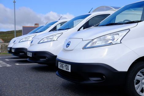 The Scottish Government-funded Nissan electric vans.