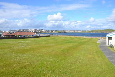 The old Seafield hockey pitch, where the new Eric Gray centre is to be built starting in July. Photo: Shetnews/Neil Riddell
