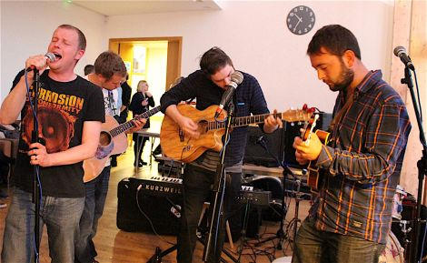 The Kev T Experience performing in Mareel on Thursday night. (L-R): Kevin Tulloch, James Johnson, Jamie Hatch, Lewie Peterson.