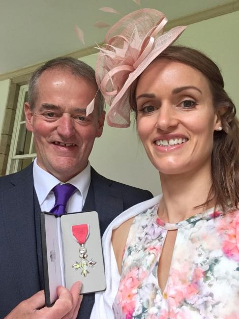Leslie Tait MBE, pictured with his daughter Ashley.