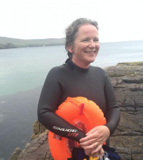 Catriona Barr had a close encounter with a killer whale off Lerwick on Wednesday. Photo: BBC Radio Shetland