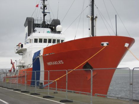 The Kirkwall-based coastguard tug MV Herakles.
