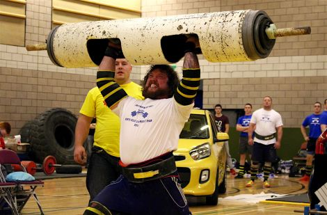 Moar at last year's Shetland Strongest Man competition at the Clickimin Leisure Centre - Photo: Chris Cope/ShetNews