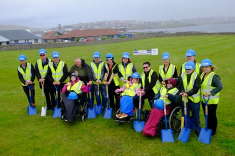 council representatives, current users and contractors DITT met at Seafield to cut the turf for the new Eric Gray resource Centre - Photo: SIC