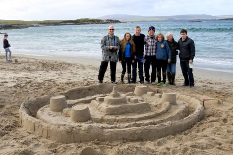 A sand-sculpting competition at West Sandwick beach was one of a host of events held during the inaugural FestiYell. Photo: Charlie Inkster.