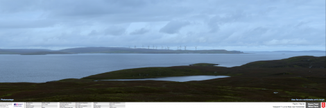The proposed Beaw Field wind farm seen from Lunna - Image: Peel Energy
