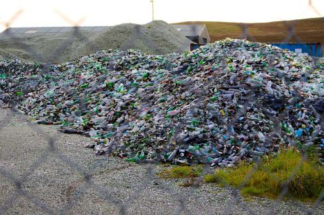 The amenity trust says a backlog of recycled glass will now be dealt with.