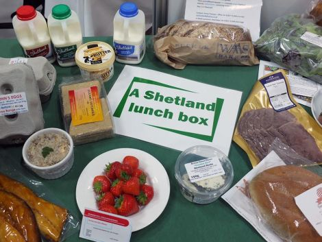 NHS Shetland showing what can be included in a healthy Shetland lunch box