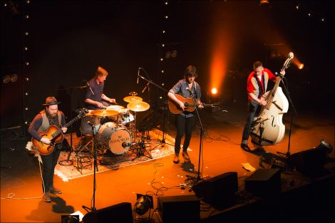 """Glasgow quartet Daniel Meade and the Flying Mules featured some """"incredible"""" steel strung guitar solos. Photo: Dale Smith"""