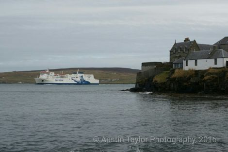 The NorthLink ferry Hjaltland arriving in Lerwick - Photo: Austin Taylor