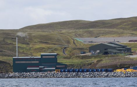 Two wind turbines planned for the council's waste management facility at Gremista are in doubt - Photo: Hans J Marter/ShetNews