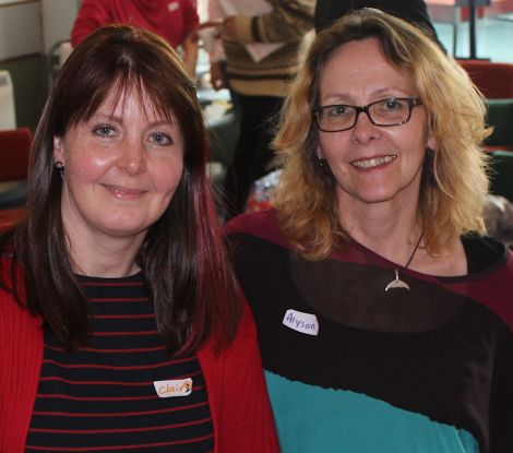 Clair Aldington and Alyson Halcrow, co-founders of the space2face project.