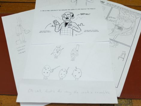 Some of the drawings our author came away with.