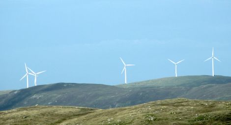 The Burradale wind farm just outside Lerwick. Island councils say the Tories are stifling further investment in renewables.