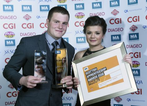 Joe Smith and partner Clare Farmer, who was a finalist at the awards.