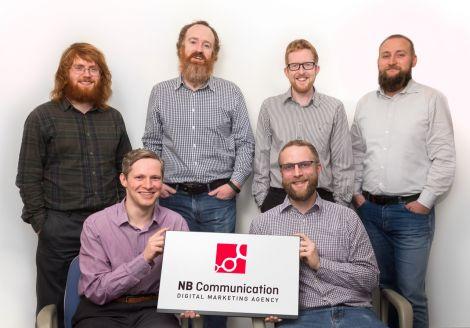 Back from left: Chris Thomson, David Nicol (managing director), David Gifford and Marcin Kaczmarek. Front: Matthew Simpson and Alex Fenton.