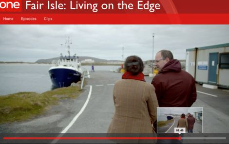 The first episode looks at the arrival of the first couple to move to Fair Isle in five years. Image courtesy of BBC Scotland.