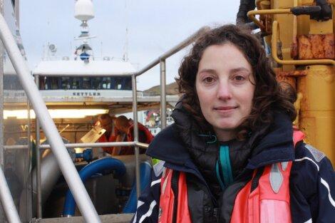 Biologist Noelia Rodriguez oversees the thermolicer use on Scottish Sea Farms' Shetland sites - Photo: Hans J Marter/Shetland News