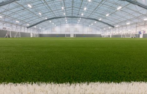 The new 60x40m artificial surface at Clickimin.
