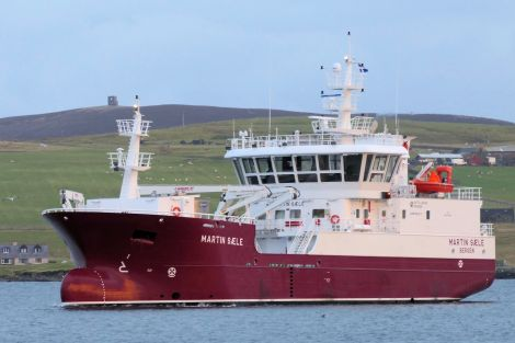The new Martin Saele arriving at Lerwick harbour - Photo: Sydney Sinclair