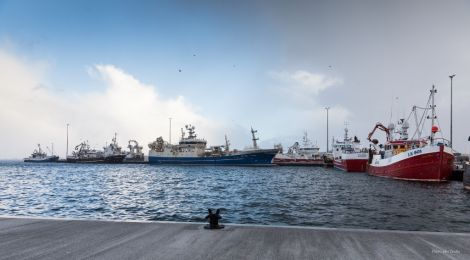 Busy times at Lerwick Harbour's new Holmsgarth North jetty. Photo courtesy of LPA.