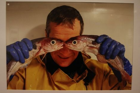 Kevin Ritch's Fish Eyes is one of many striking pieces in the At Sea and Shore exhibition. All photos: Davie Gardner